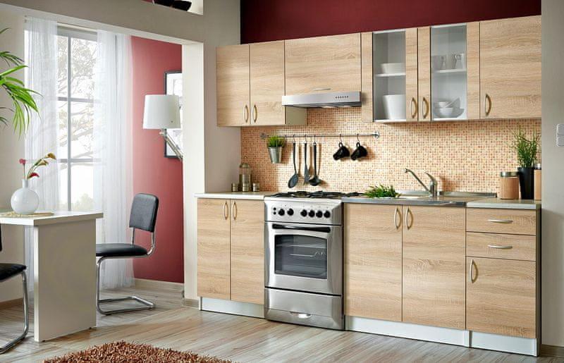 Kuchyně JOLANA II 180/240 cm, dub sonoma