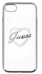 Guess GUHCP7TRHS Heart TPU pouzdro Silver pro iPhone 7