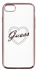 Guess GUHCP7LTRHRG Heart TPU pouzdro Rose Gold pro iPhone 7 Plus