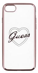 Guess GUHCPSETRHRG Signature TPU pouzdro Heart Rose Gold pro iPhone 5/5S/SE