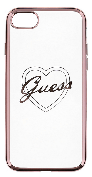 Guess GUHCP6TRHRG Signature TPU pouzdro Heart Rose Gold pro iPhone 6/6S