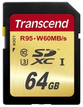 Transcend pomnilniška kartica TS64GSDU3, 64GB
