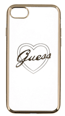 Guess GUHCP7LTRHG Heart TPU pouzdro Gold pro iPhone 7 Plus