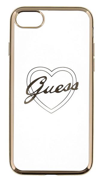 Guess GUHCP7LTRHG Heart TPU pouzdro Gold pro iPhone 7 Plus