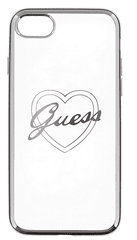 Guess GUHCP7LTRHS Heart TPU pouzdro Silver pro iPhone 7 Plus