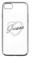 Guess GUHCP7LTRHS Heart TPU pouzdro Silver pro iPhone 7 Plus