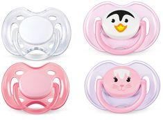 Avent Šidítko SENSITIVE 0-6m. bez BPA, 2 × 2 kusy, růžová/bílá
