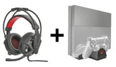 Trust Vibration headset + Coolling stand