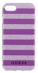 Guess GUHCP7STGPU Ethnic Chic Stripes 3D TPU pouzdro Purple pro iPhone 7