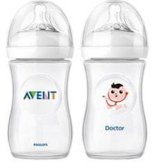 Avent Natural Cumisüveg, 260 ml, 2 db