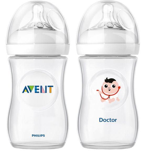 Avent Láhev Natural 260 ml (PP) + Láhev doktor