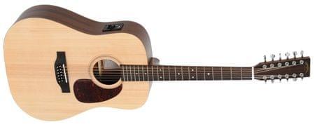 DM12E Dvanásťstrunová elektroakustická gitara