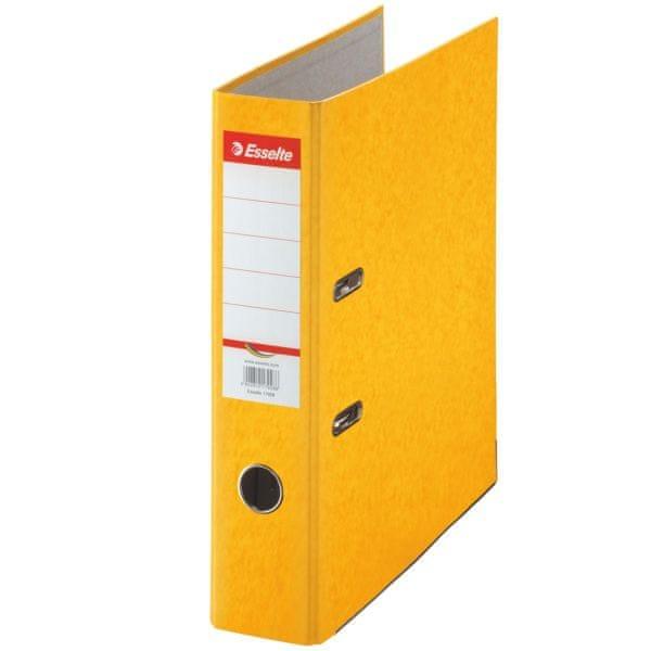 Pořadač pákový papírový Rainbow A4 7,5 cm žlutý