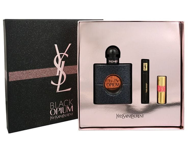 Yves Saint Laurent Opium Black - EDP 50 ml + řasenka 2 ml + rtěnka 1,4 ml