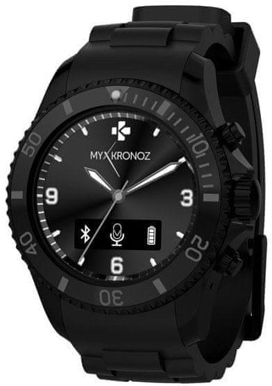 MyKronoz chytré hodinky ZeClock, černé