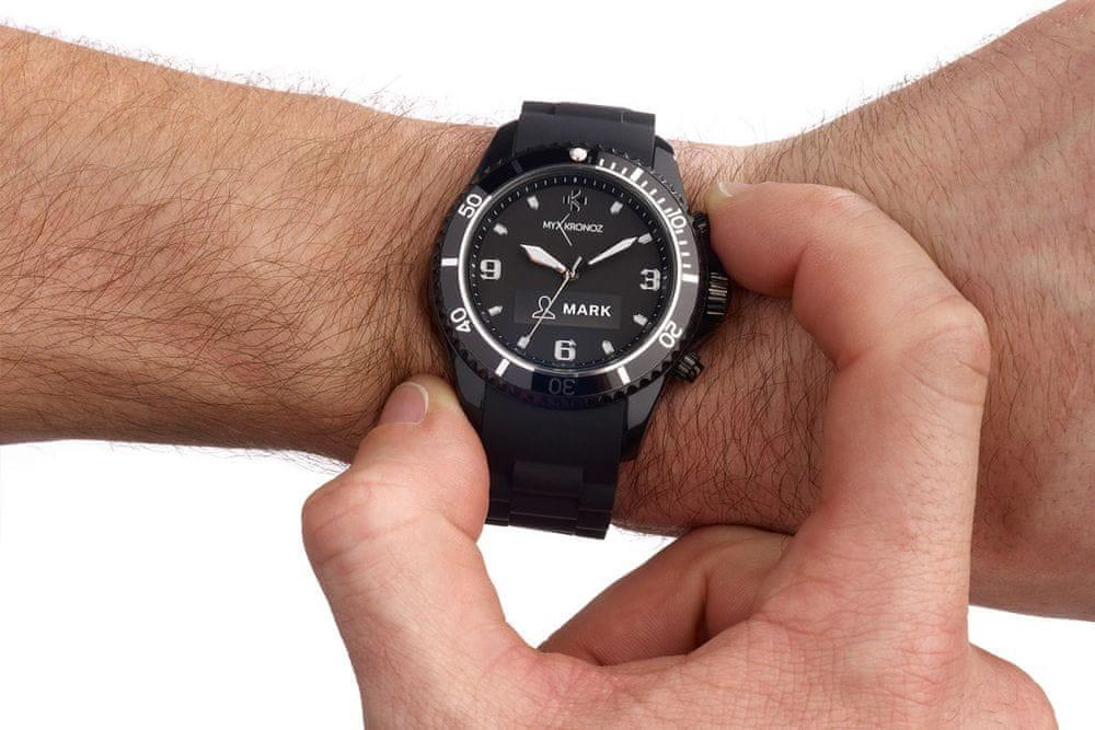 MyKronoz chytré hodinky ZeClock, černé - použité