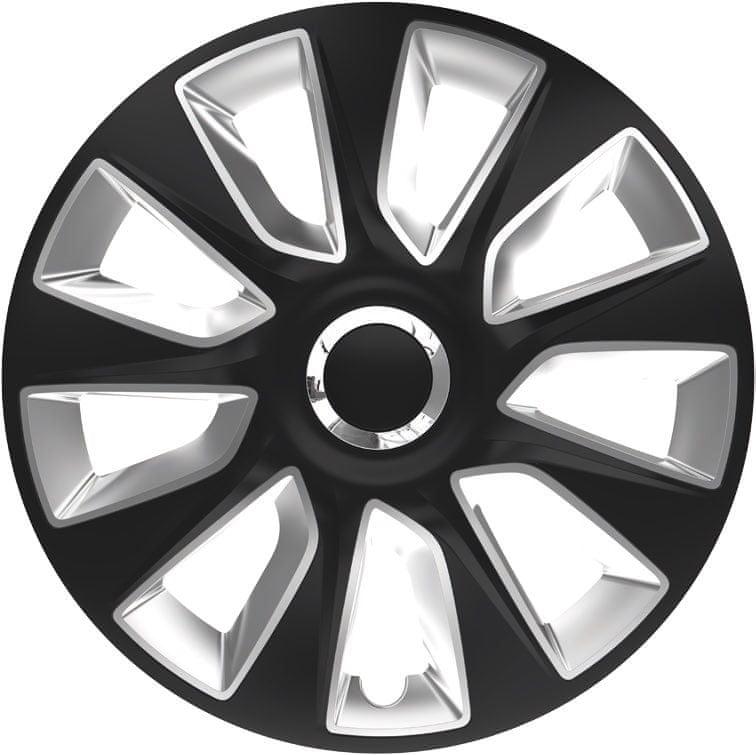 Versaco Sada puklíc STRATOS RC Black/Silver 4 ks 14