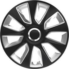 Versaco Puklice STRATOS RC Black/Silver sada 4ks