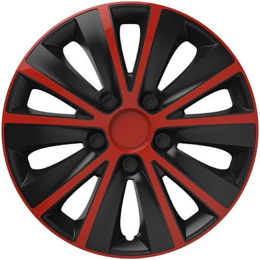 Versaco Poklice RAPIDE Red/Black sada 4ks 16