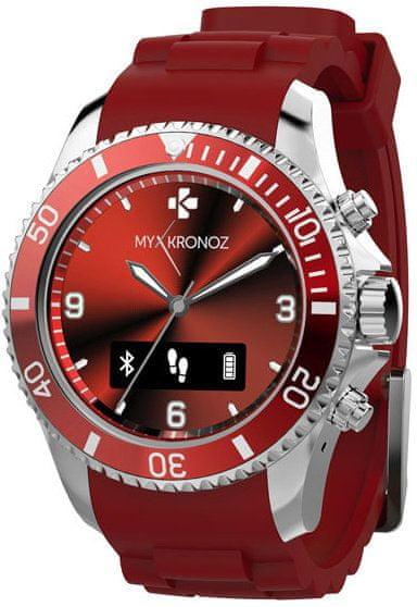 MyKronoz chytré hodinky ZeClock, červené