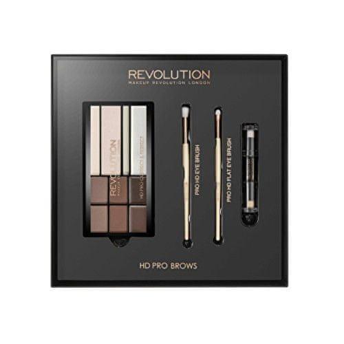 Makeup Revolution Dárková sada na úpravu obočí (HD Pro Brows) - SLEVA - poškozená krabička