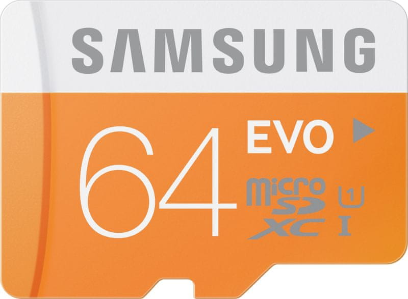 Samsung microSDXC 64GB EVO UHS-I (class 10) 48 MB/s + adaptér (MB-MP64DA/EU)