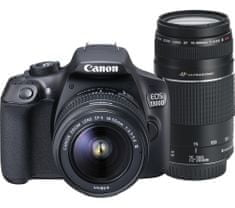 Canon EOS 1300D + 18-55 DC + 75-300 DC + 8 GB karta, batoh, 100GB Irista + 1000 Kč od Canonu zpět
