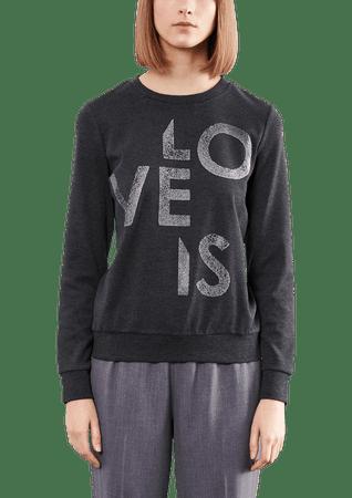 s.Oliver T-shirt damski S ciemnoszary
