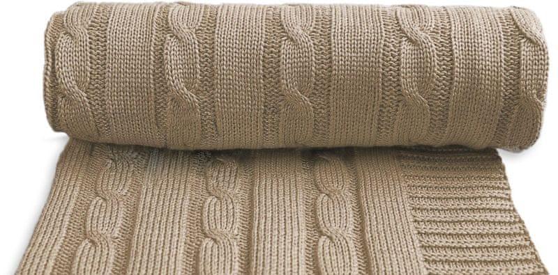 T-tomi Dětská pletená deka, béžová