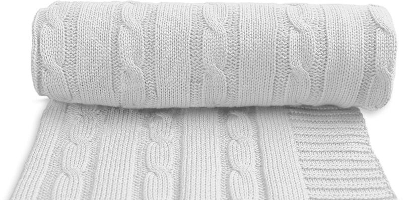 T-tomi Dětská pletená deka, šedá