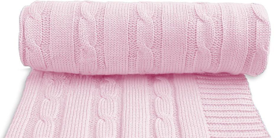 T-Tomi Dětská pletená deka, růžová