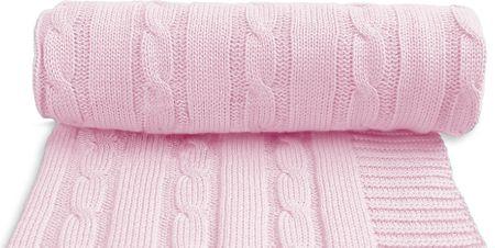 T-tomi otroška pletena odeja, roza