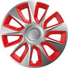 Versaco Poklice STRATOS Silver/Red sada 4ks