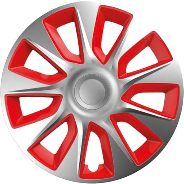 Versaco Poklice STRATOS Silver/Red sada 4ks 16