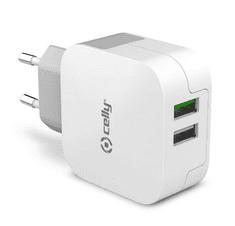 CellularLine Cestovní nabíječka TURBO s 2 x USB výstupem, 3.4 A