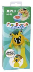 Modelovací hmota Apli Fun Dough Jumping monster Giggle žlutá