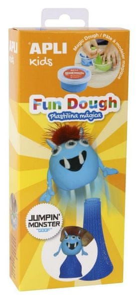 Modelovací hmota Apli Fun Dough Jumping monster Goof modrá