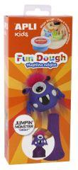 Modelovací hmota Apli Fun Dough Jumping monster Gront fialová