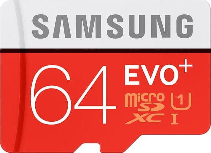 Samsung microSDXC 64GB EVO Plus 80 MB/s + adaptér (MB-MC64DA/EU)