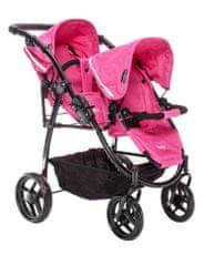 Britax Kočík pre bábiky DUO TWIN, Hot Pink