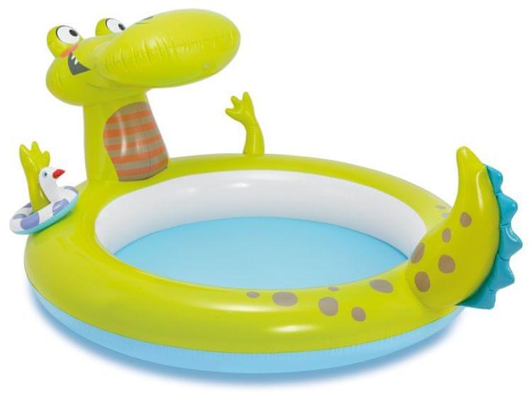Intex Bazének krokodýl s vodopádem 198 x 160 x 91 cm