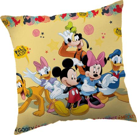 Jerry Fabrics Mickey & Barátai Párna, 40x40 cm