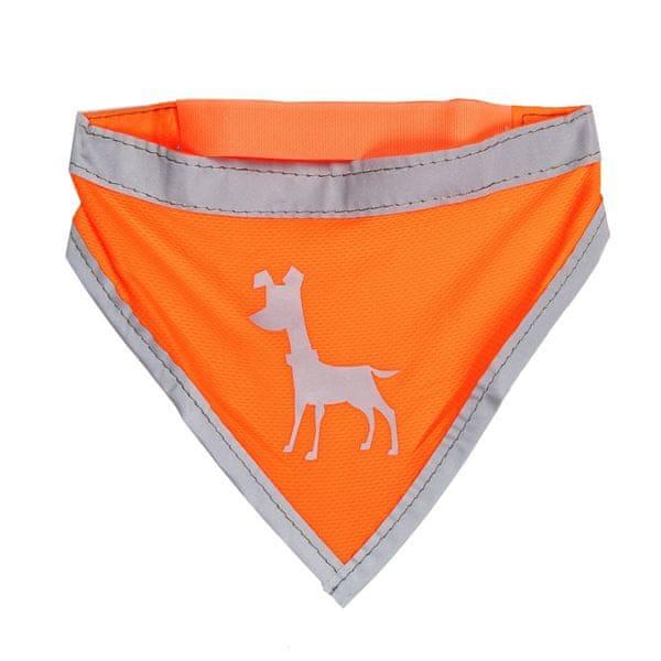 Alcott Neonově oranžový šátek s reflexními prvky vel. M