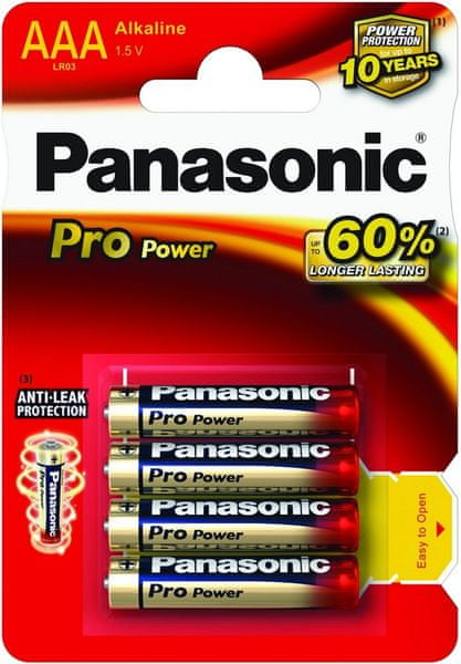 Panasonic AAA 4ks Pro Power (LR03PPG/4BP)