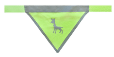 Alcott Fényvisszaverős kutyakendő, Neonsárga