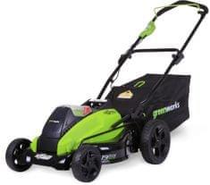 Greenworks Akumuloátorová travní sekačka 40 V s indukčním motorem (GD40LM45)