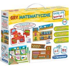 Clementoni Uczę się bawiąc Gry matematyczne CLM60593