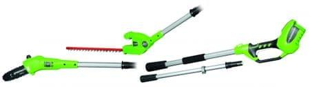 Greenworks 2 w 1 nożyce do żywopłotu / pilarka do gałęzi (G40PSHT)