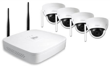 Dahua video nadzorni komplet IP Wi-Fi (4x HDBW1120E + 4x NVR4104)