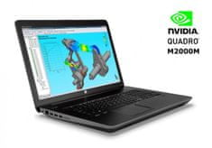 HP prenosnik ZBook 17 G3 i7-6700HQ/16GB/512GB+1TB/M2000M/W10Pro (M9L91AV)